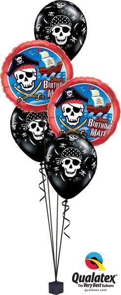 Bukiet 547 A Pirate's Life Birthday Qualatex #11767-2 12566-3