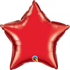 "20"" / 51cm Solid Colour Star Ruby Red Qualatex #99606"