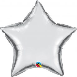 "20"" / 51cm Solid Colour Star Silver Qualatex #99612"