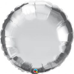 36″ / 91cm Solid Colour Round Silver Qualatex #12683