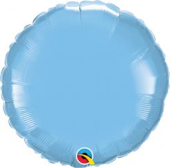 18″ / 46cm Solid Colour Round Pale Blue Qualatex #12908