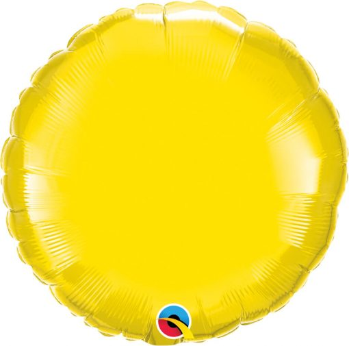 18″ / 46cm Solid Colour Round Yellow Qualatex #12915