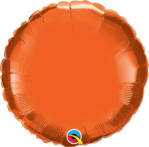 18″ / 46cm Solid Colour Round Orange Qualatex #12916