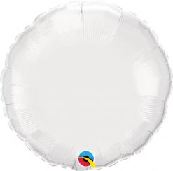 18″ / 46cm Solid Colour Round White Qualatex #12921