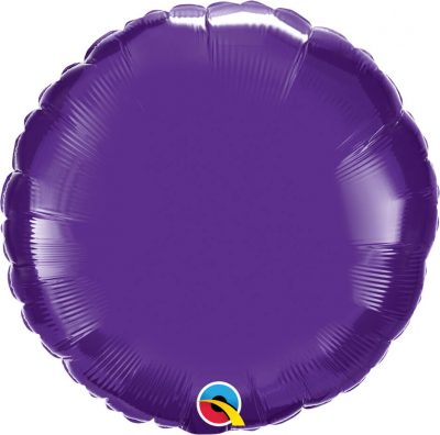 "18"" / 46cm Solid Colour Round Quartz Purple Qualatex #99639"
