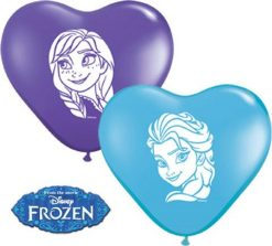 "6"" / 15cm Anna & Elsa Faces Assortment Qualatex #12932-1"