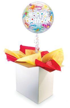 """22"""" / 56cm Poczta Balonowa Premium na Urodziny z Balonem Bubble"""