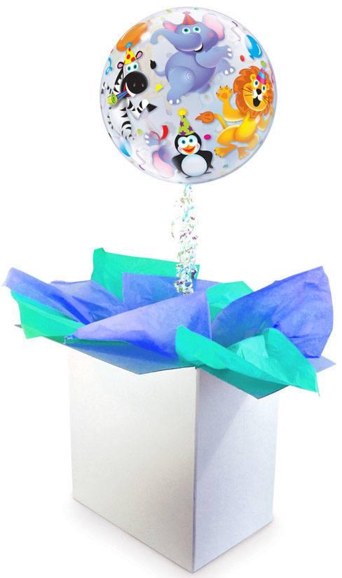 22″ / 56cm Poczta Balonowa Dla Dzieci Premium z Balonem Bubble