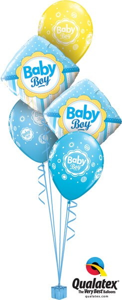 Bukiet 552 New Baby Boy Summertime Stripes Qualatex #14637-2 44107-3