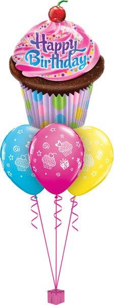 Bukiet 540 Giant Sprinkle Birthday Cupcake Qualatex #16083 12022-3