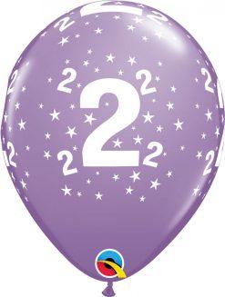 """11"""" / 28cm 6szt Star #2 A Round Retail Asst Qualatex #17823"""