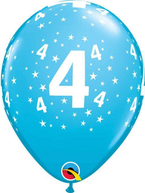 """11"""" / 28cm 6szt Star #4 A Round Retail Asst Qualatex #17834"""