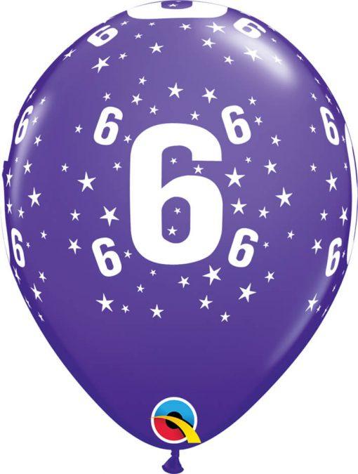 """11"""" / 28cm 6szt Star #6 A Round Retail Asst Qualatex #17844"""