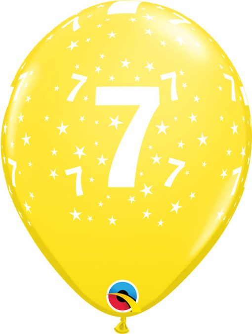"""11"""" / 28cm 6szt Star #7 A Round Retail Asst Qualatex #17845"""