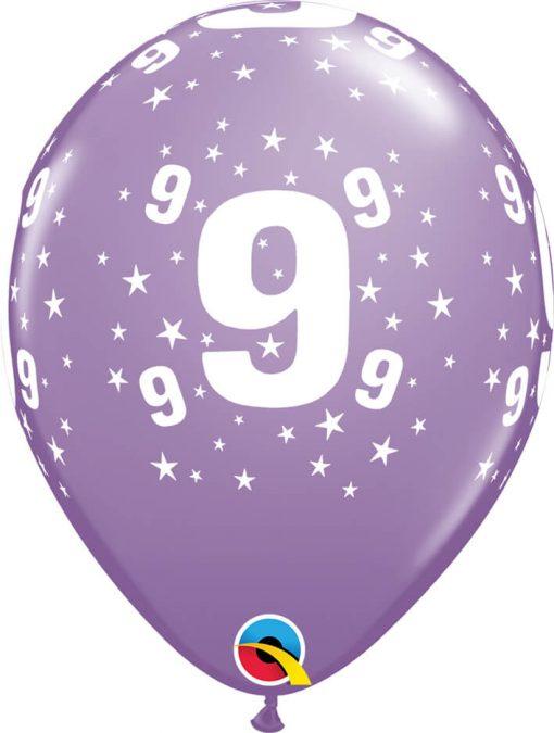 """11"""" / 28cm 6szt Star #9 A Round Retail Asst Qualatex #17848"""