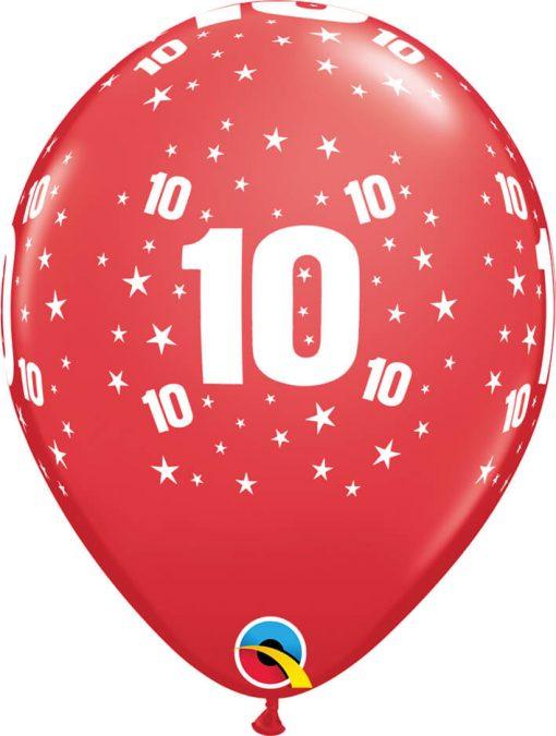 """11"""" / 28cm 6szt Star #10 A Round Retail Asst Qualatex #17850"""