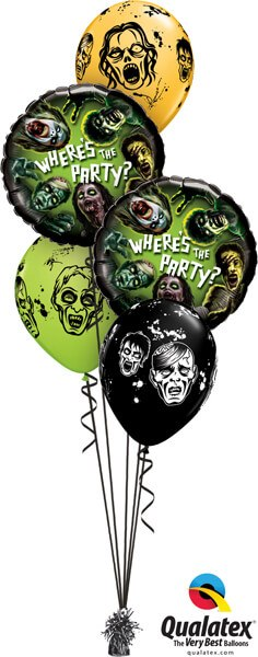 Bukiet 361 Zombie Party Qualatex #18154-2 20004-3