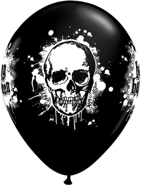 "11"" / 28cm 6szt Halloween Haunted Skull Qualatex #20003"
