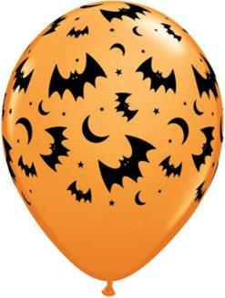 """11"""" / 28cm 6szt Flying Bats & Moons Qualatex #19965"""