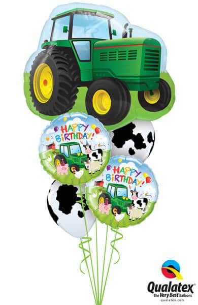 Bukiet 530 Happy Birthday Tractor Qualatex #16468 29612 11633