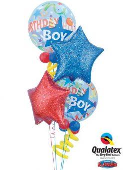 Bukiet 3 Birthday Boy Party Hat Qualatex #27510-2 41284 41280