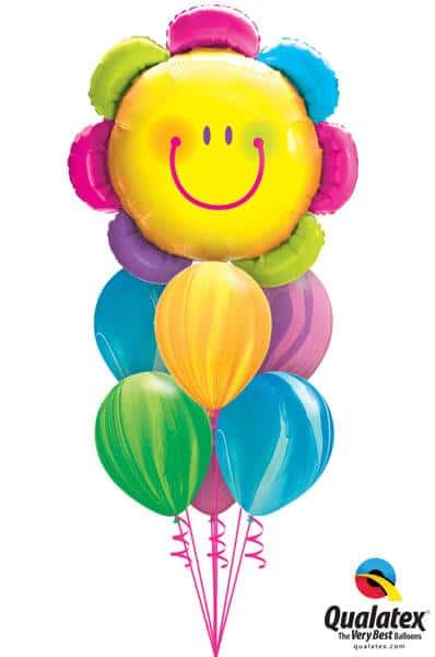 Bukiet 522 Radiant Rainbow Flower Qualatex #15384 91544-6