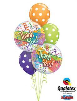 Bukiet 50 Thank You Streamers Qualatex #27500 84651-3