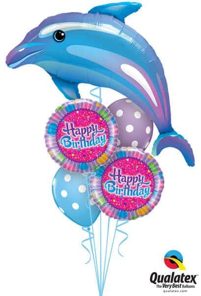 Bukiet 237 Delightful Dolphin Qualatex #29338 30677-2 14248-2