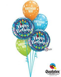 Bukiet 79 Birthday Spiral & Candels Qualatex #35340-2 17920-3