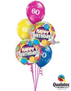Bukiet 80 Birthday Big Dots & Glitz Qualatex #37864-2 17907-3