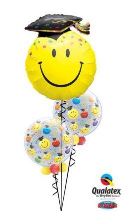 Bukiet 532 Smiley Grad Bubbles Qualatex #40379 18694-2