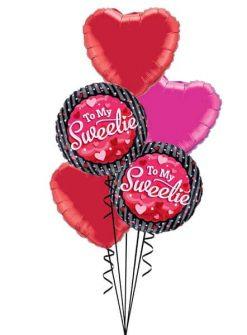 Bukiet 513 To My Sweetie Hearts & Dots Qualatex #40853-2 99594-2 99335
