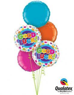Bukiet 204 Good Luck Colourful Dots Qualatex #36387-2 12919 99579 99336