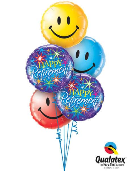 Bukiet 203 Retirement Colourful Bursts Qualatex #37932-2 29632 29636 29640