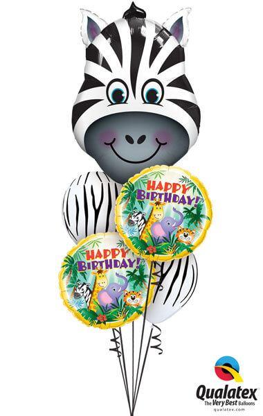 Bukiet 178 Zany Zebra Qualatex #16166 31014-2 11758-2