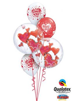 Bukiet 668 Double Bubble Valentine's Hearts #68808-2 40308-3