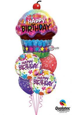 Bukiet 11 Birthday Dazzling Cupcake Qualatex #16085 41438-2, 87291-2