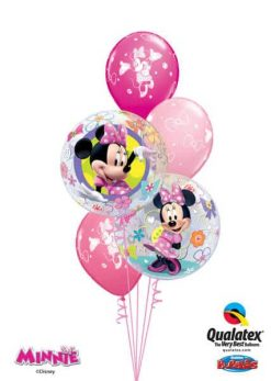 Bukiet 59 Disney Minni Mouse Bow-Tique Qualatex #41065-2 18685-3