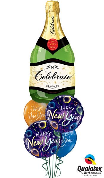 Bukiet 108 Celebrate Bubbly Wine Bottle Qualatex #16122 40085-2 60136-2