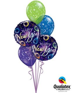 Bukiet 639 Balloon Year's Day Qualatex #40085-2 12580-3