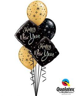Bukiet 488 New Year Sparkle Qualatex #27673-2 12578-3