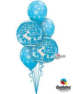 Bukiet 449 Decorated Reindeer Qualatex #54147-2 33531-3