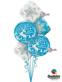 Bukiet 467 Decorated Reindeer Qualatex Qualatex #54147-2 40091-2 40089