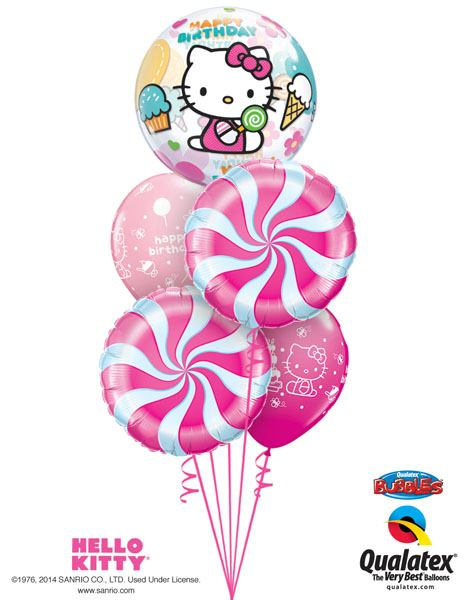 Bukiet 229 Hello Kitty Birthday Qualatex #12865 17355-2