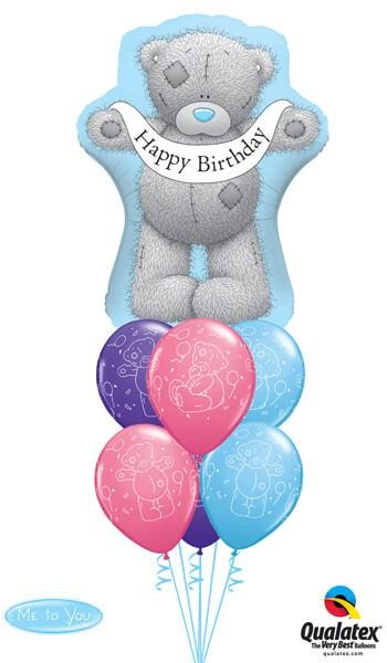 Bukiet 7 Me To You - Tatty Teddy Birthday Banner Qualatex #16624 12557-6