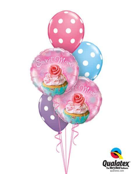 Bukiet 249 To a Wonderful Mum Cupcake Qualatex #90585-2 14248-3