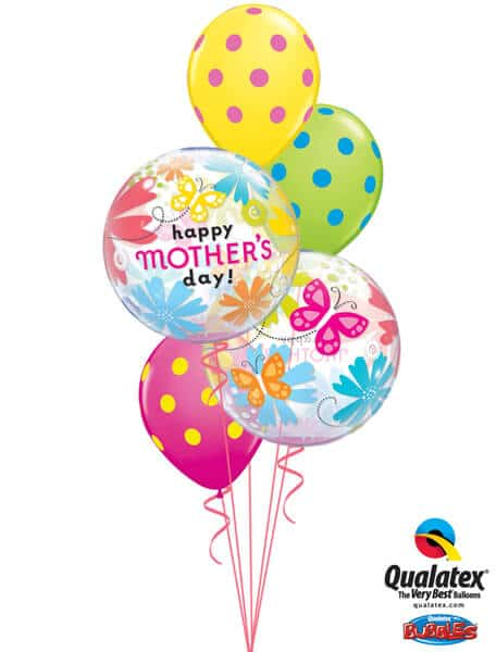 Bukiet 579 Mother's Day Butterfly Bubbles Qualatex #79717-2 10240-3