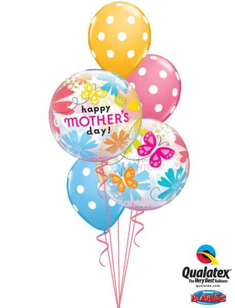 Bukiet 580 Mother's Day Flowers & Butterflies Qualatex #79717-2 14248-3