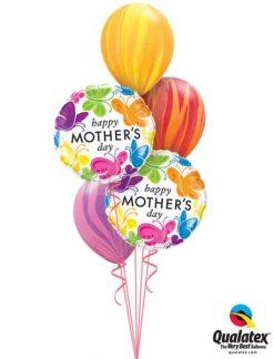 Bukiet 583 Mother's Day Rainbow Butterflies Qualatex #91848-2 91544-3