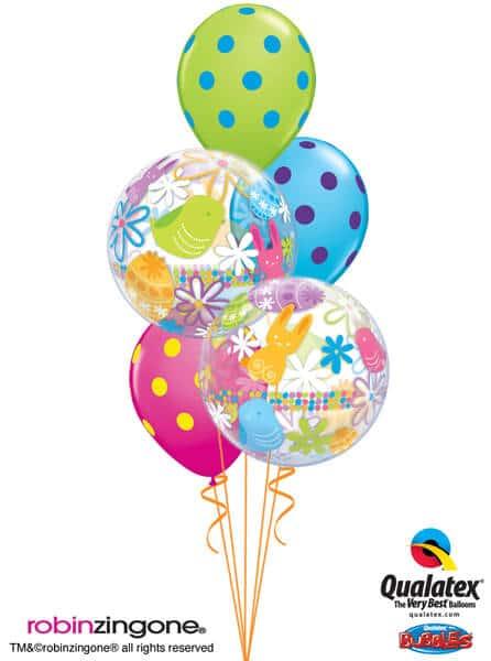 Bukiet 520 Big Polka Dot Easter Qualatex #90595-2 10240-3